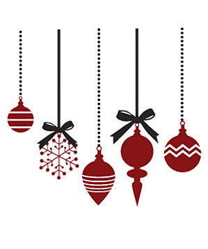 Vinyl Decal Christmas Ornaments by Elephannie