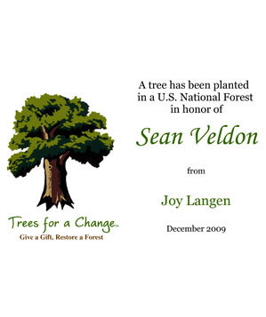 Trees for a Change E-Tree Gift Card