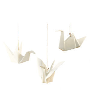 Porcelain Origami Birds by Gump's
