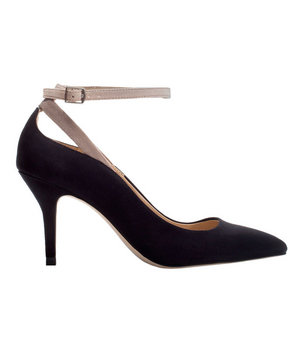Zara High Heel Court Shoe With Ankle Strap