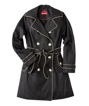 Merona Water-Repellent Classic Trench Coat