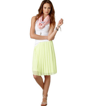 American Eagle AE Pleated Chiffon Skirt