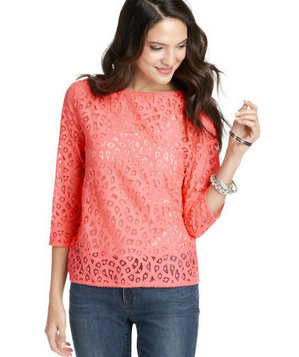 Loft ¾ Sleeve Lace Top