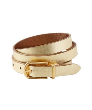 Coldwater Creek Reversible Metallic Belt