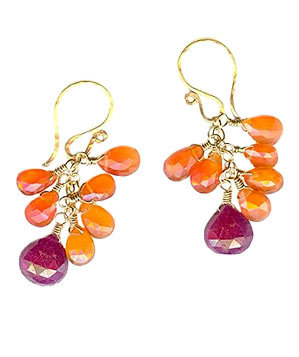 Beaded Earrings by Calico Juno Designs