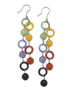Multi-Color Jade Earrings by Newport News