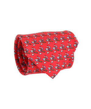 Vineyard Vines Martini & Cigar Printed Silk Tie