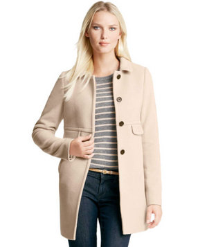 Ann Taylor Wool Blend Magazine Coat