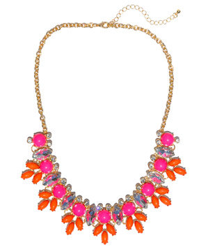 Jeweliq Fuchsia and Coral Jolie Necklace