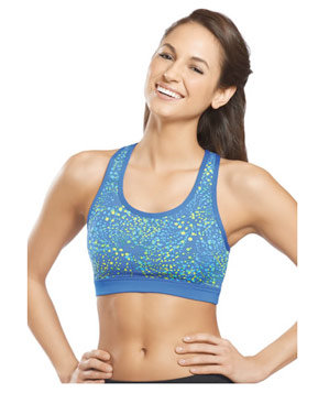 Jockey Reversible High Impact Paint Splatter Sports Bra