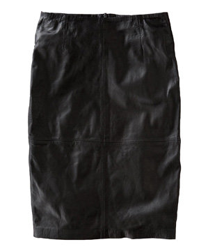 Boden Leather Pencil Skirt