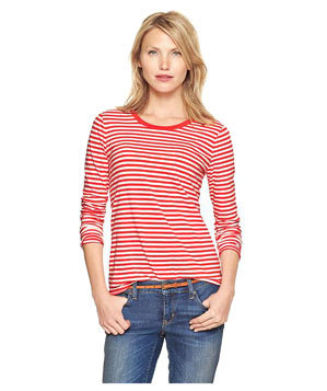 Gap Essential Striped Long-Sleeve T