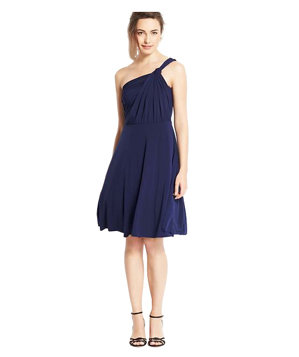 Ann Taylor Jersey One Shoulder Bridesmaid Dress