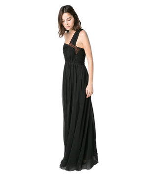 Mango Asymmetric Long Dress