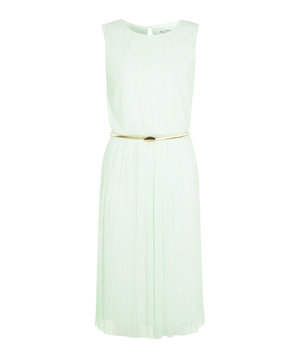 Miss Selfridge Mint Plisse Midi Dress