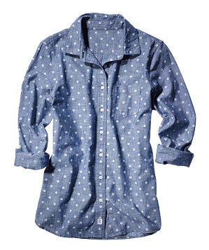 Lands' End Canvas chambray shirt