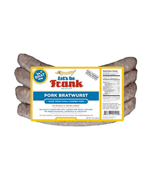 Let's Be Frank Pork Bratwurst