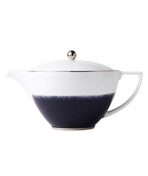 Navy Fringe Teapot by Wedgewood