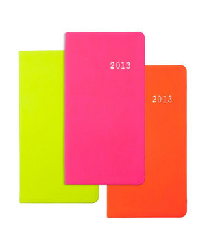 "2013 6"" Pocket Datebook Italian Neon"