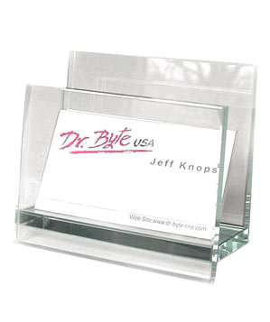 Glass Business Card Holder by Cristalle