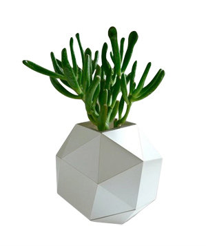 Pearl Polyhedron Paper Vase