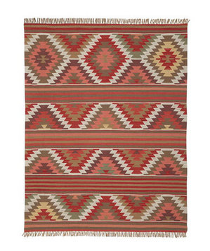 Farah Diamond Recycled Yarn Rug