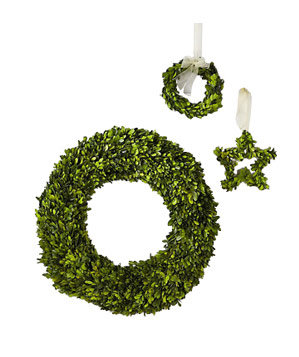 Set of Three Small Boxwood Wreaths