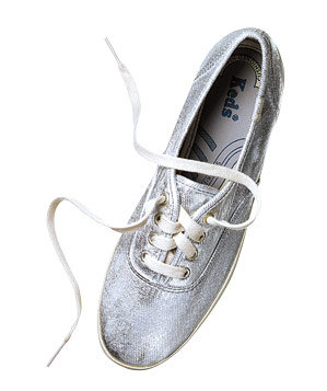 Keds coated-canvas sneakers