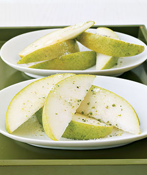 Pears With Rosemary Sugar (6 Desserts That Are Mostly Fruit)