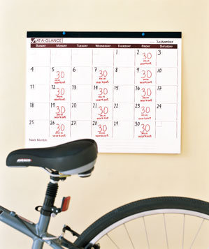 Bicycle and a calendar