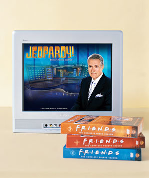 Jeopardy on TV and Friends DVDs