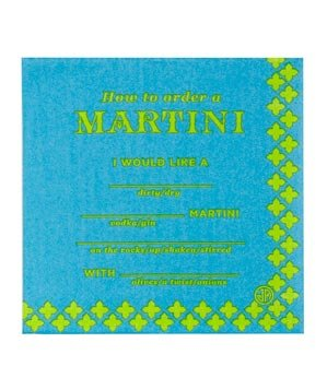 Martini Cocktail Napkins