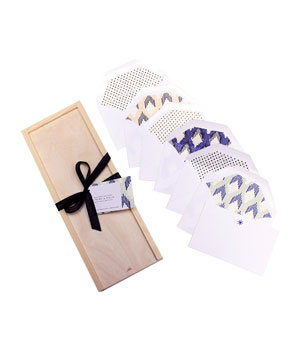 Ikat and Domino Wood Box Set