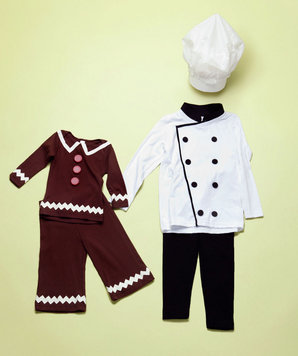 How to make gingerbread boy and baker costumes