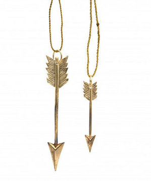 Gold Arrow Ornament