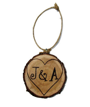Personalized Wood Carving Ornament