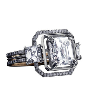 Alexandra Mor Asscher-Cut Engagement Ring