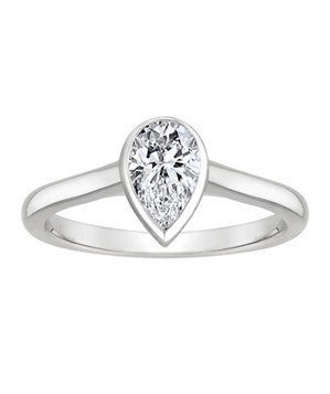 Brillliant Earth Luna 18K White Gold Luna Ring