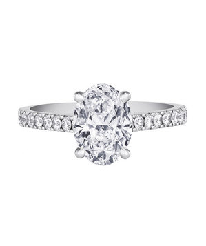 De Beers DB Classic Pave Solitaire Ring