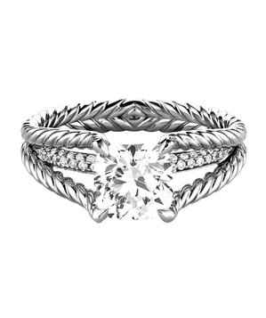 cushion cut engagement rings david yurman - David Yurman Wedding Rings