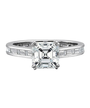 Precision Set Petite FlushFit Engagement Ring