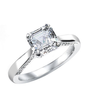 Royal Asscher Engagement Ring