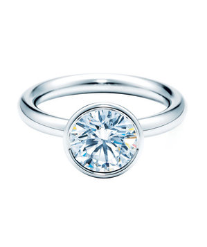 Tiffany Bezet Round Engagement Ring