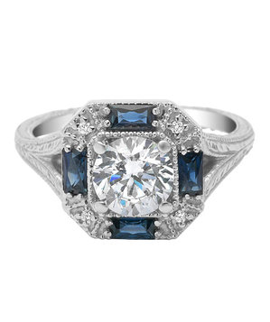 Timeless Designs Very Vintage 'R1373S' Engagement Ring
