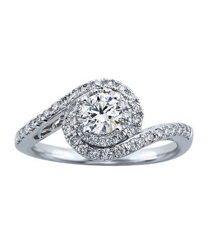 Tolkowsky Round-Cut Diamond Engagement Ring for Kay Jewelers