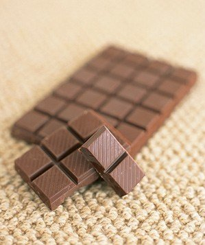 Bar of chocolate on carpet