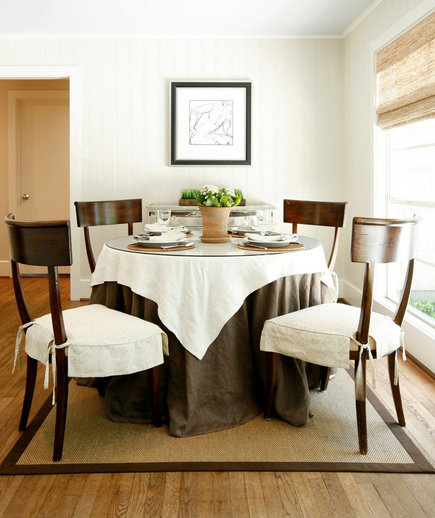 Full Skirted | 32 Elegant Ideas for Dining Rooms | Real Simple