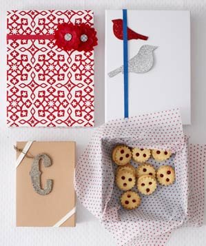 Cookies packaged in gift boxes