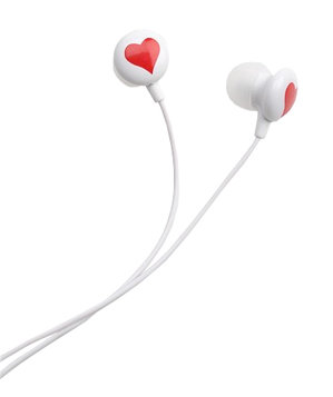 Diane von Furstenberg Heart-in-Ear Headphones