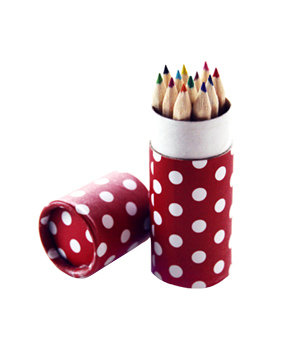 Polka Dot Coloring Pencil Set